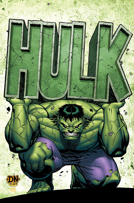 Cover to ma  hulk 4 by david nakayama