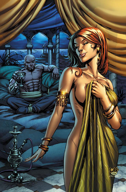 1001 arabian nights cover by david nakayama