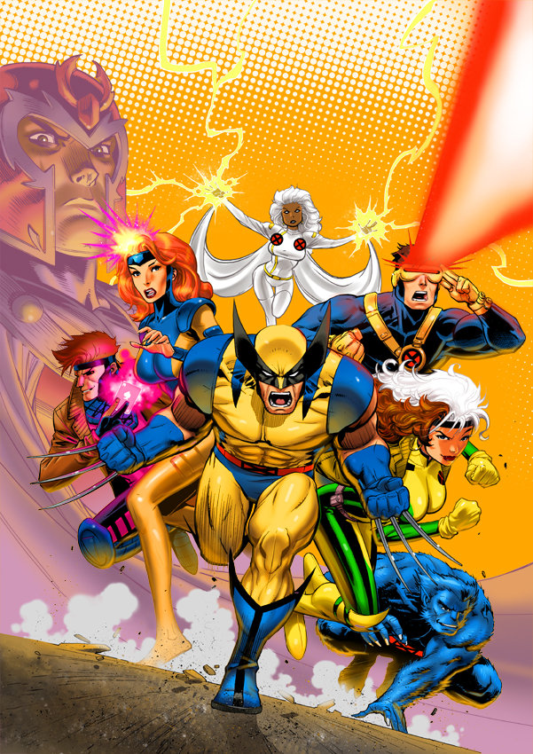 X men animated vol 1 box art by david nakayama