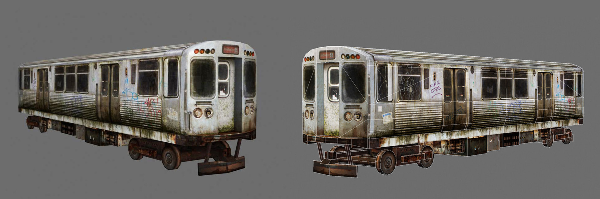 Old and dirty train by audreee d5sfpj5