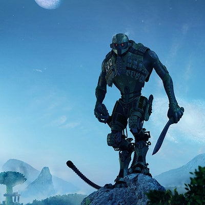 Cyborg alien big