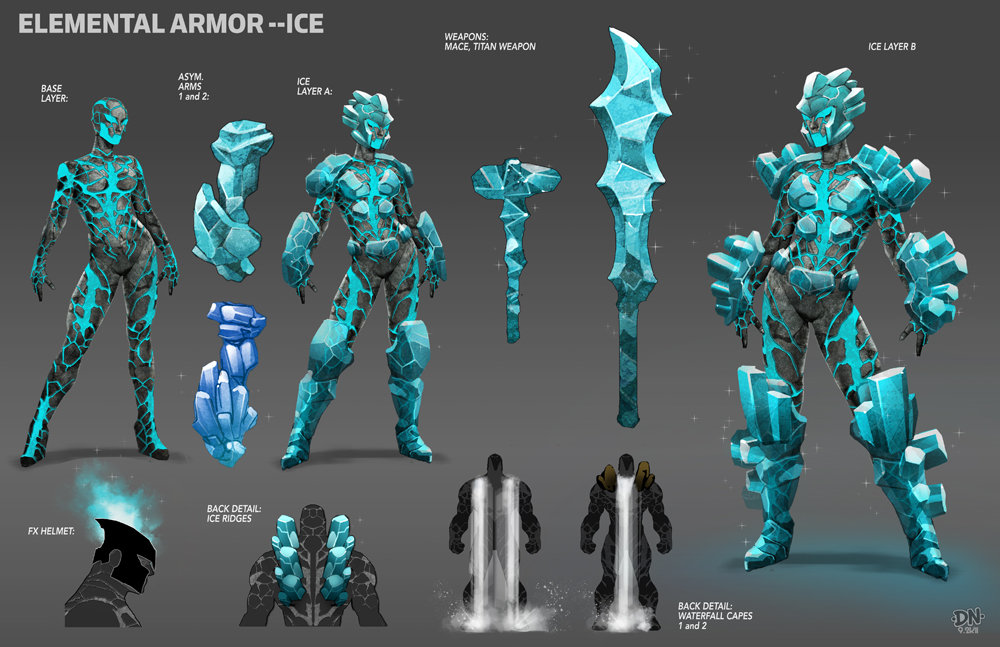 Elemental armor  ice by david nakayama d4ludvf