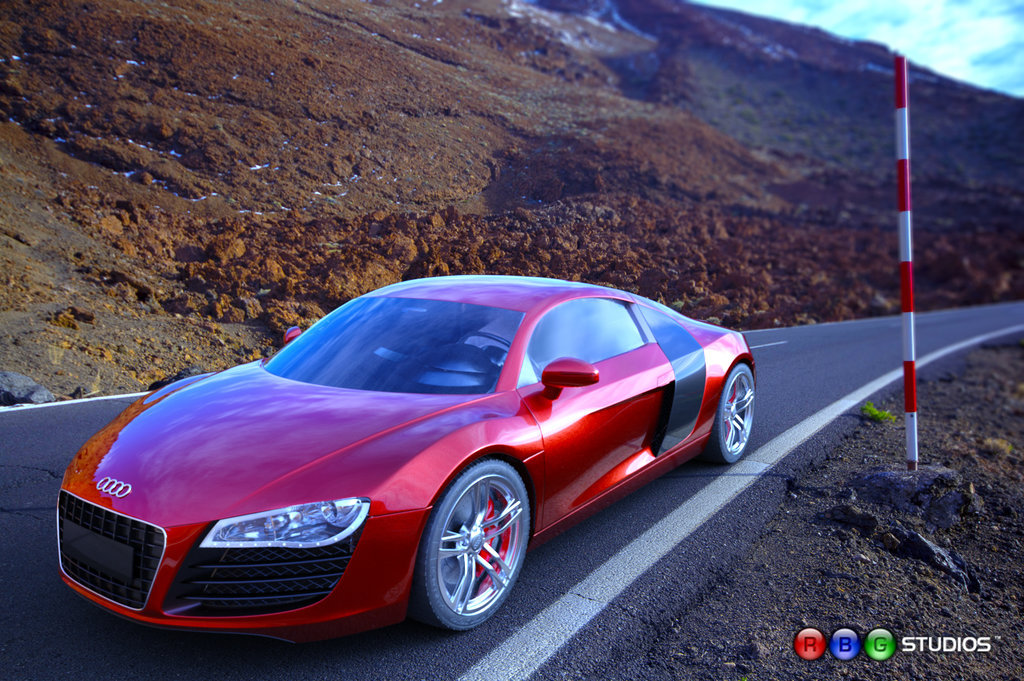 Audi r8 iray road car still by ramonguthrie d6jto11