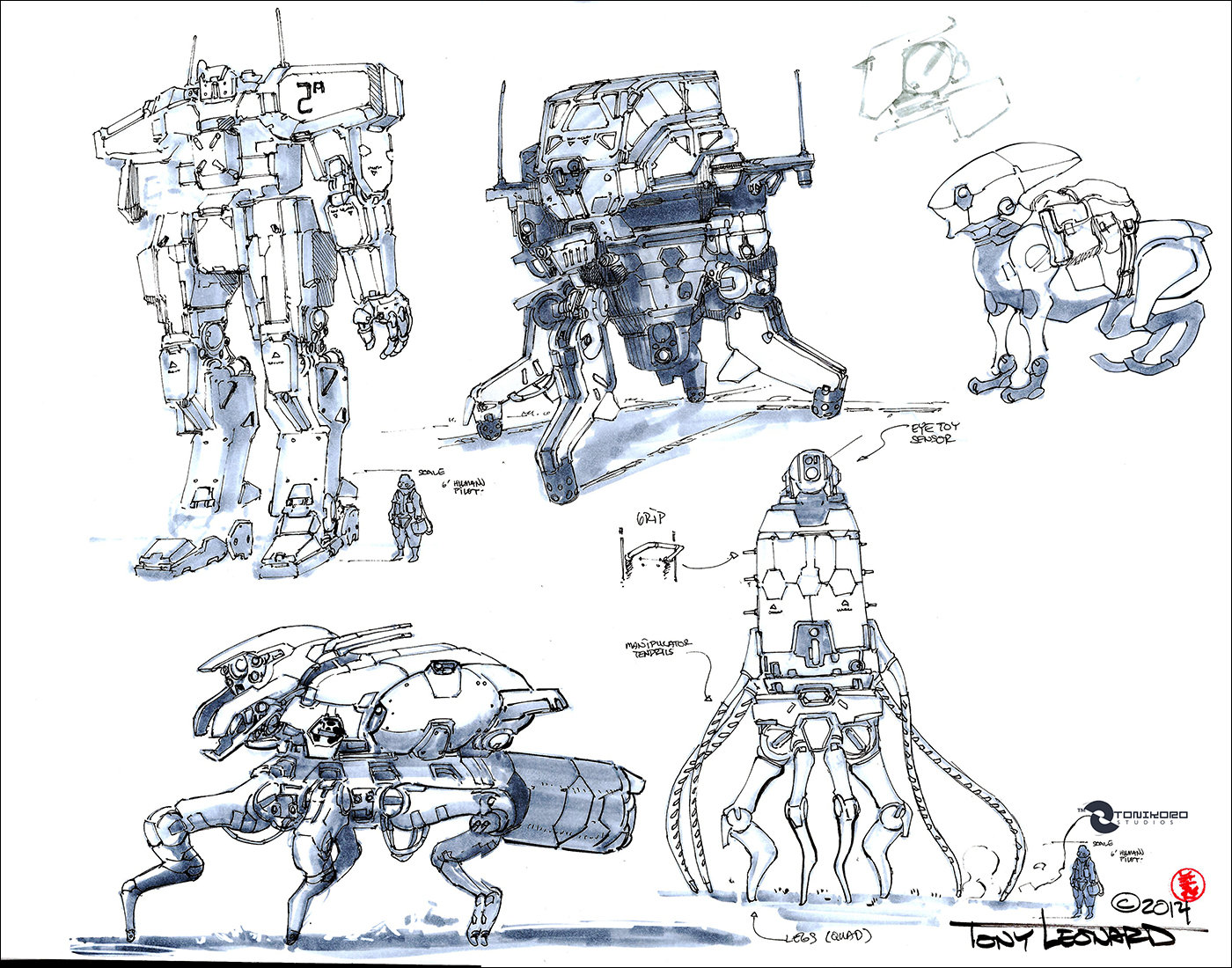 Mecha sketches detailed 03012014 low