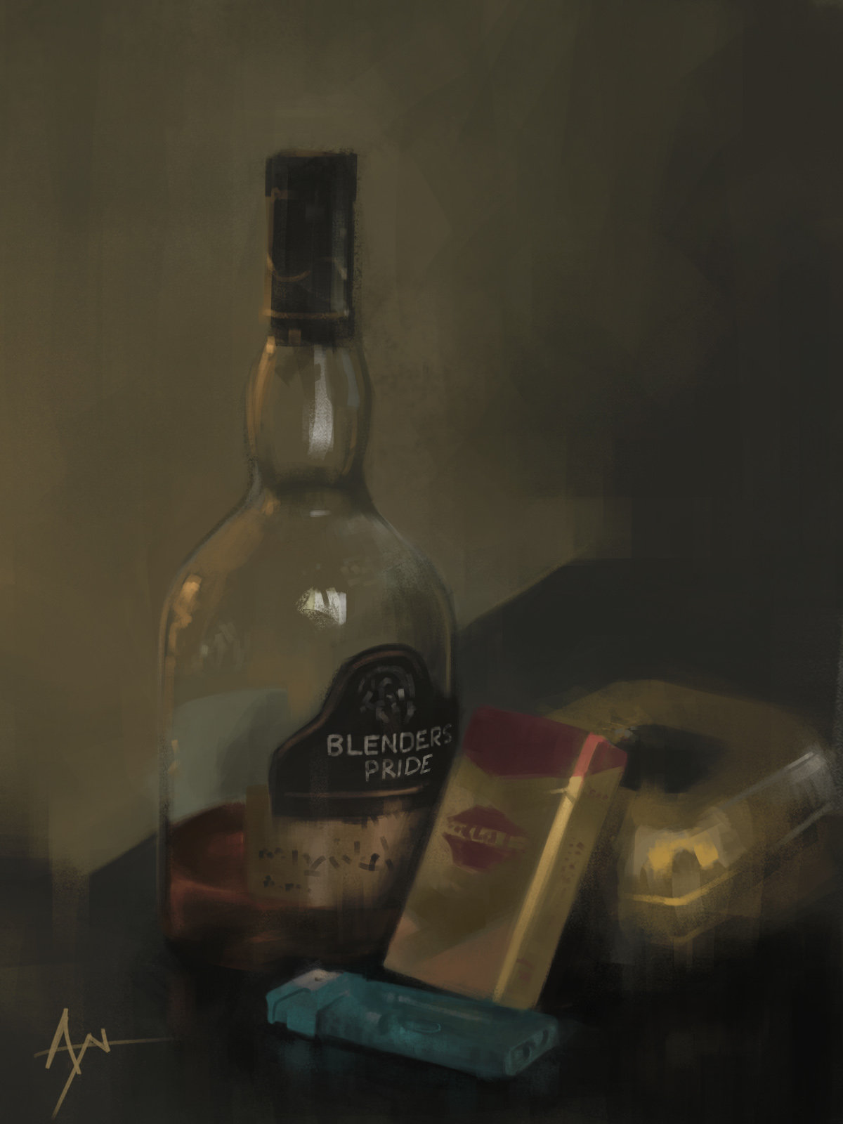 Whiskey still life by ayan
