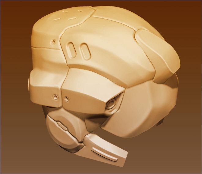 Trooper helmet hardsurf wip