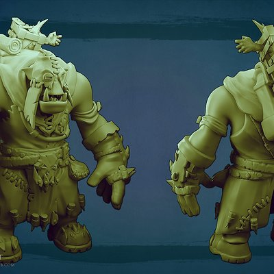 Orc sculpt 1 by missmaddytaylor d5ts2d1