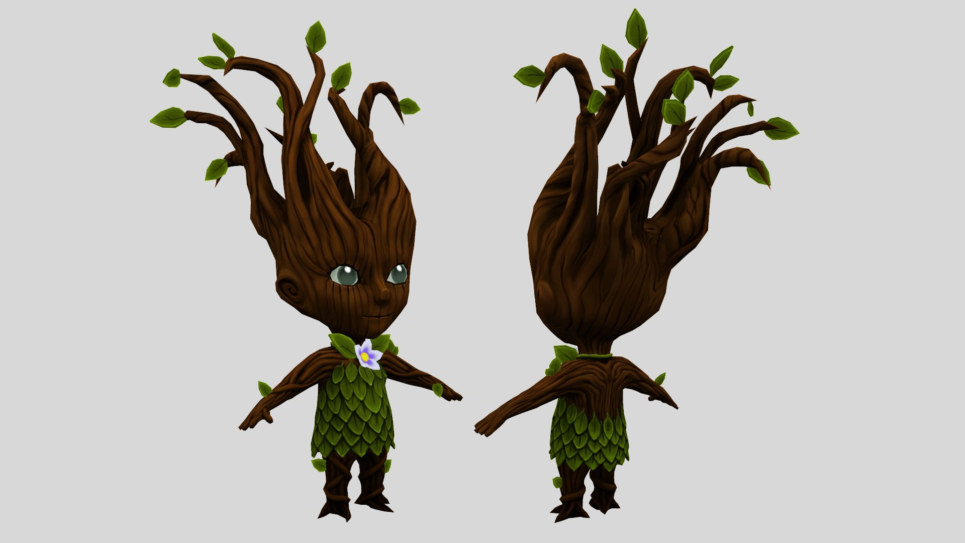 Dryad Tree, 5000 tris, 512x512 diffuse map