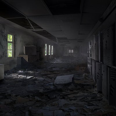Zombie hallway