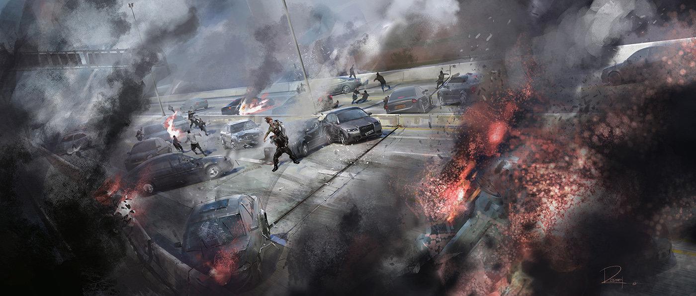 Key Frame Illustration - Marvel's Captain America The Winter Soldier 6