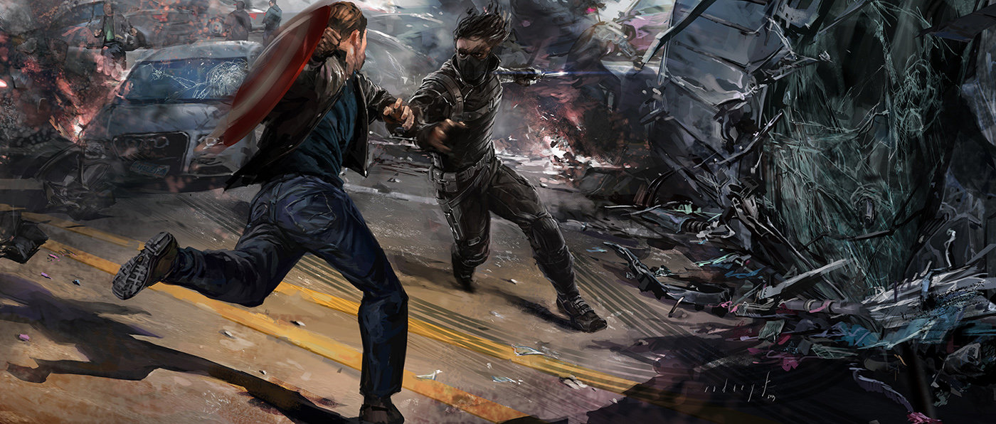 Key Frame Illustration - Marvel's Captain America The Winter Soldier 7
