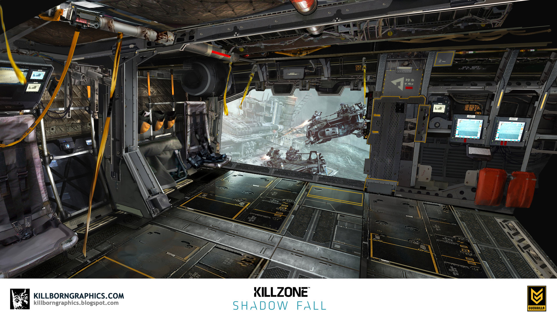 Helghast dropship interior
