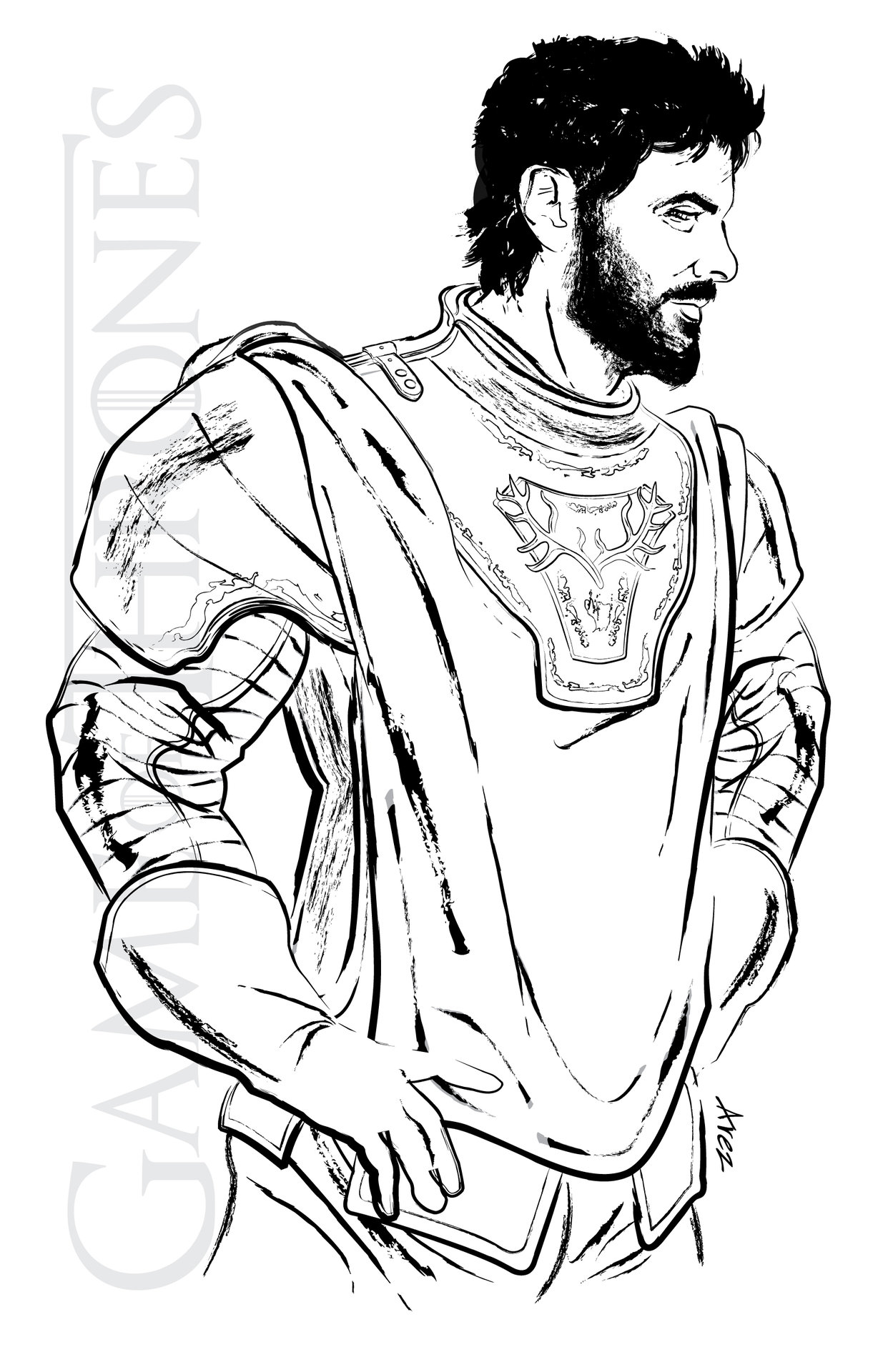 ArtStation - Renly Baratheon - The King in Highgarden, Lord