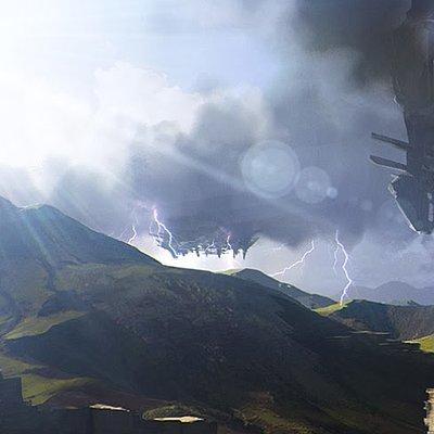 Antoine lysson storm over the plain
