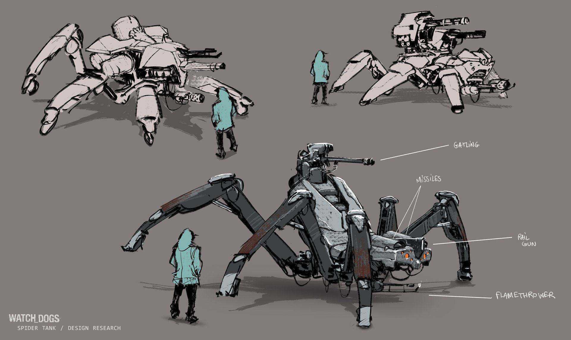 Spider Mech Watch Dogs