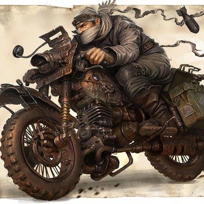 Michal kus warlordbiker coloredcg