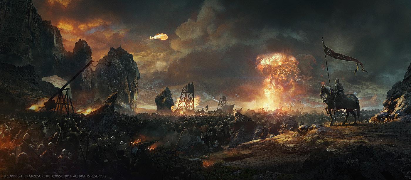 Image result for fantasy battle artstation