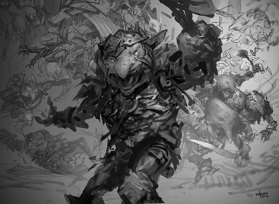 Svetlin velinov goblin rabblemaster sketch