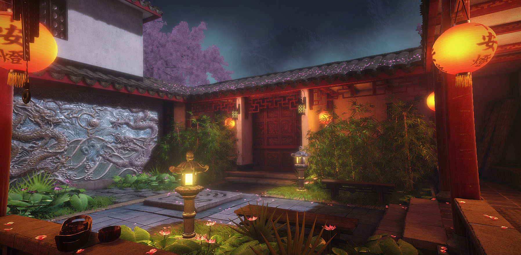 Jeff severson chinese courtyard night 06