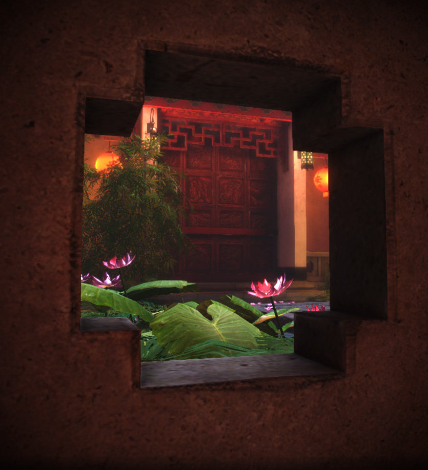 Jeff severson chinese courtyard night 03