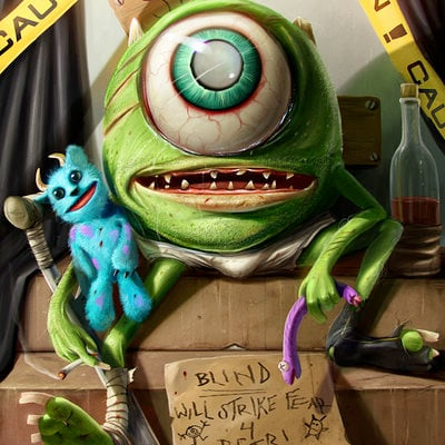 Dan luvisi mike wazowski by danluvisiart d66ahsx