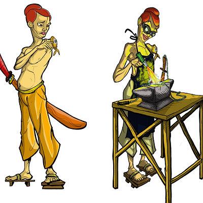 Ronald bousseau fangpiclang saber color redhair