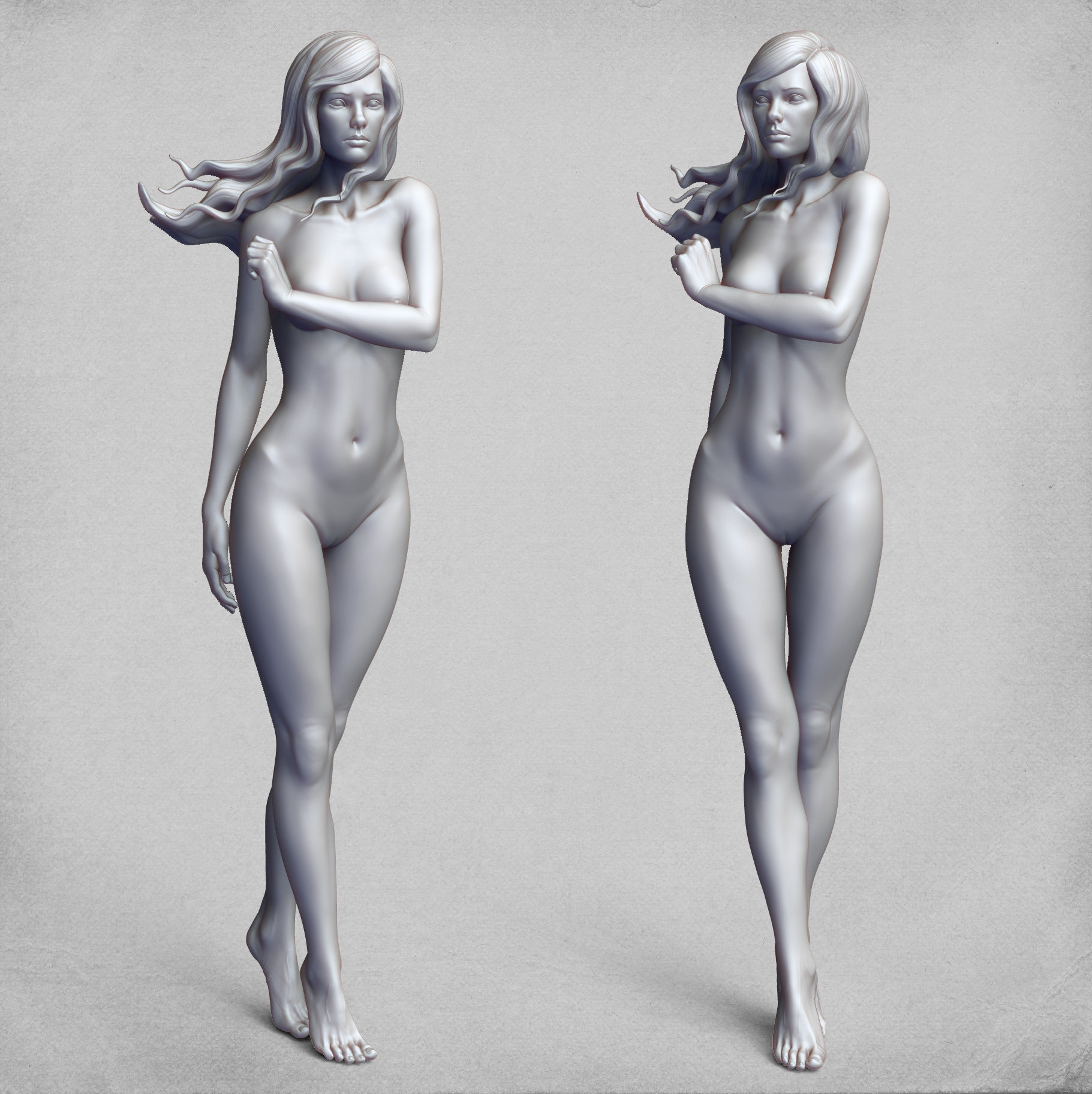 ArtStation - Female Anatomy Study, Stoyan Dimitrov