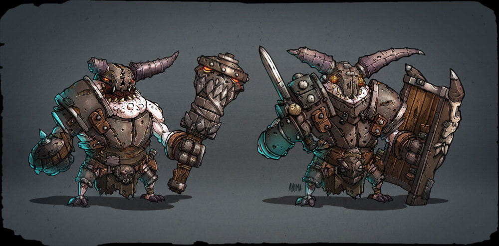Ludicrous knights - Concept Art