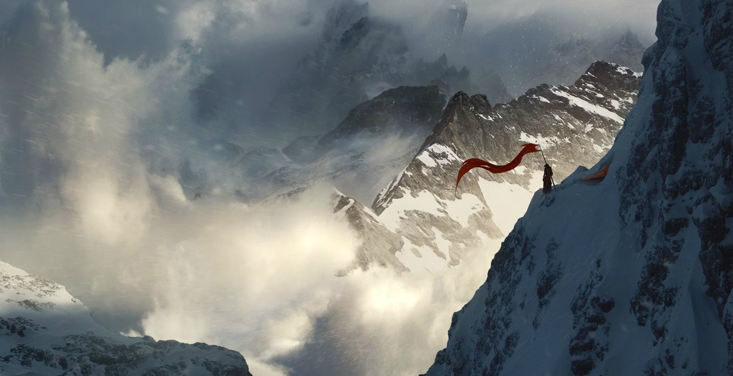 Jessica rossier matte painting flag keeper