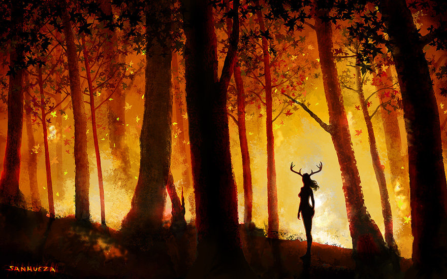 """Forest Fire"" - painted with Photoshop"