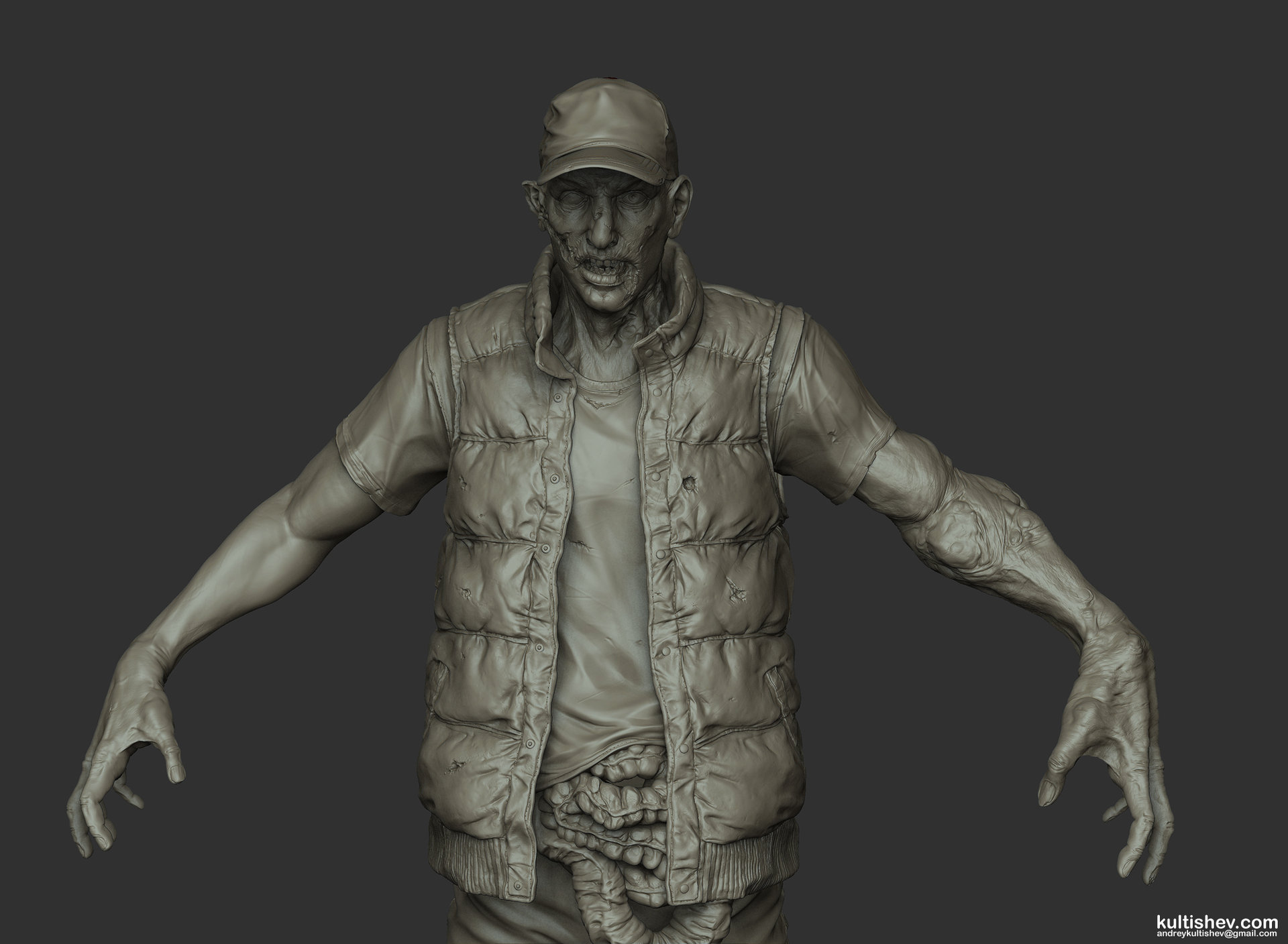 Andrey kultishev kultishev zombie sculpt01