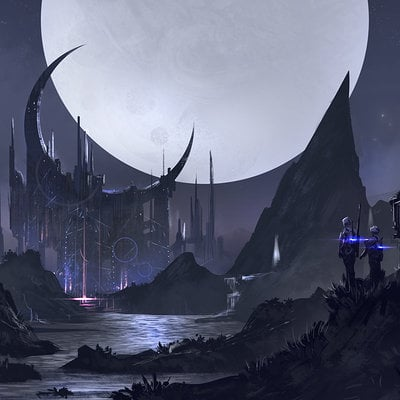 Florent llamas moon castle sketch
