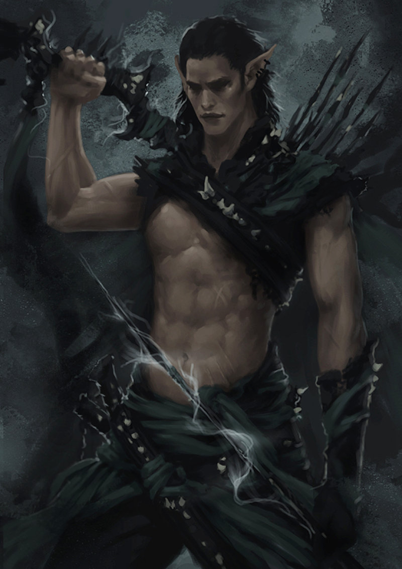 saara-makinen-dark-elf-warrior-concept-3