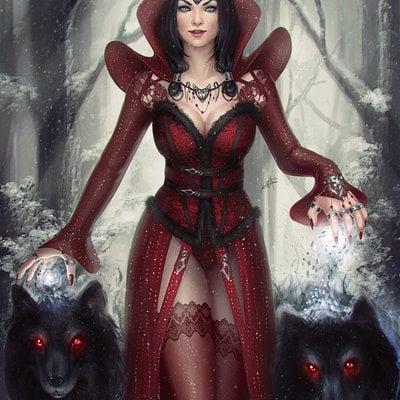Ayya saparniyazova priestess and shadow wolves