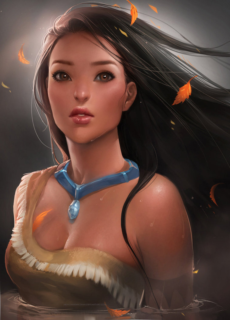 Yue w pocahontas by sakimichan d4t31ub