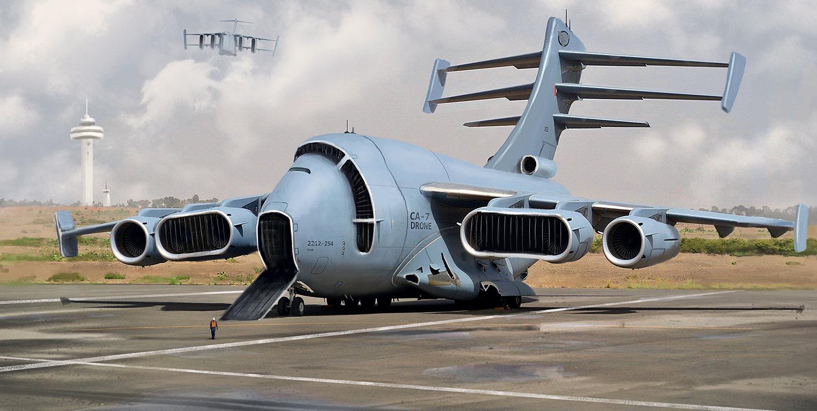 ArtStation - Future cargo plane, mathieu lamble