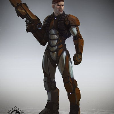 Thomas wievegg scifi character captain 1024