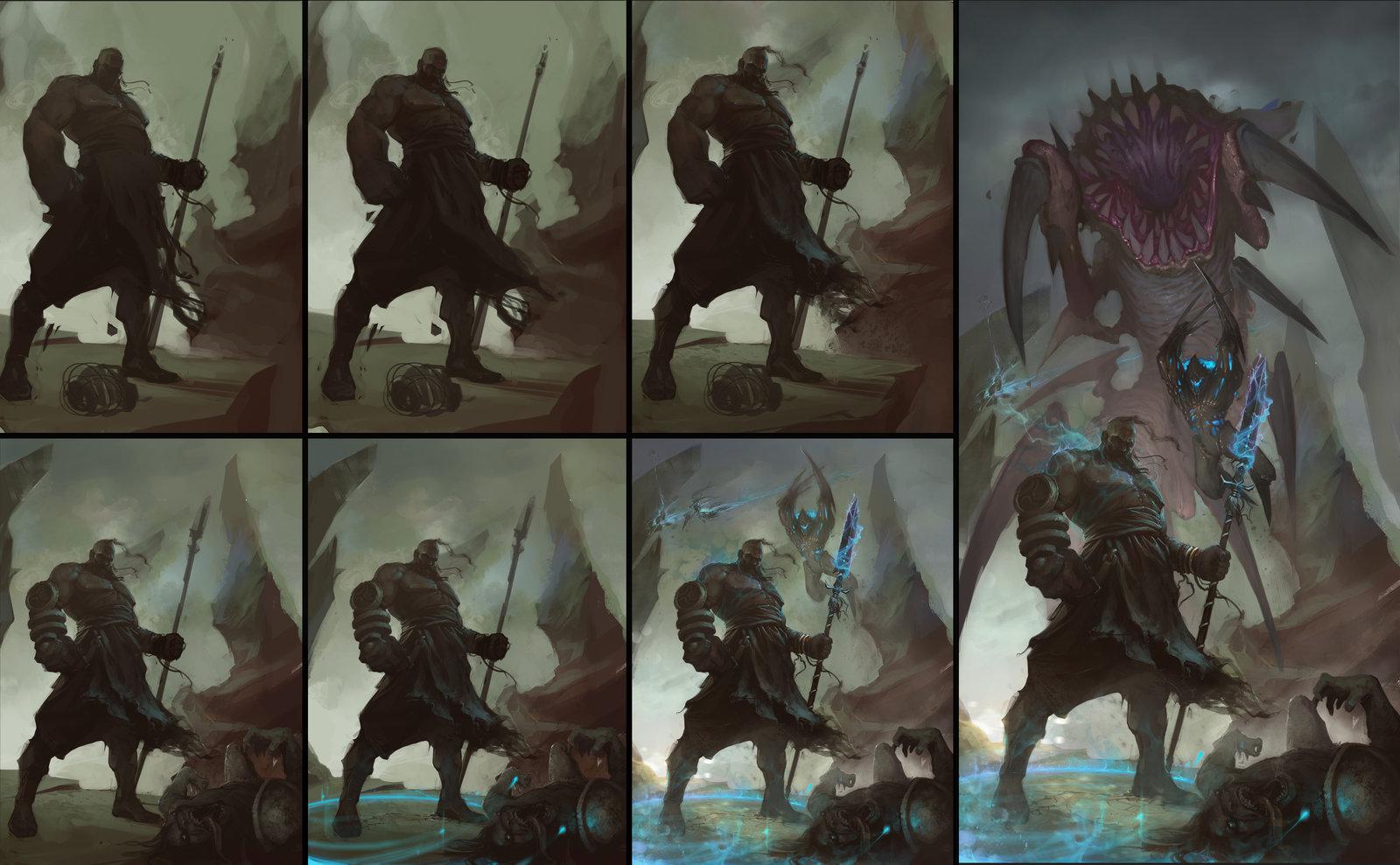 Denys tsiperko diablo3 reaper of souls fan art step by step by denstarsk8 d79t76b