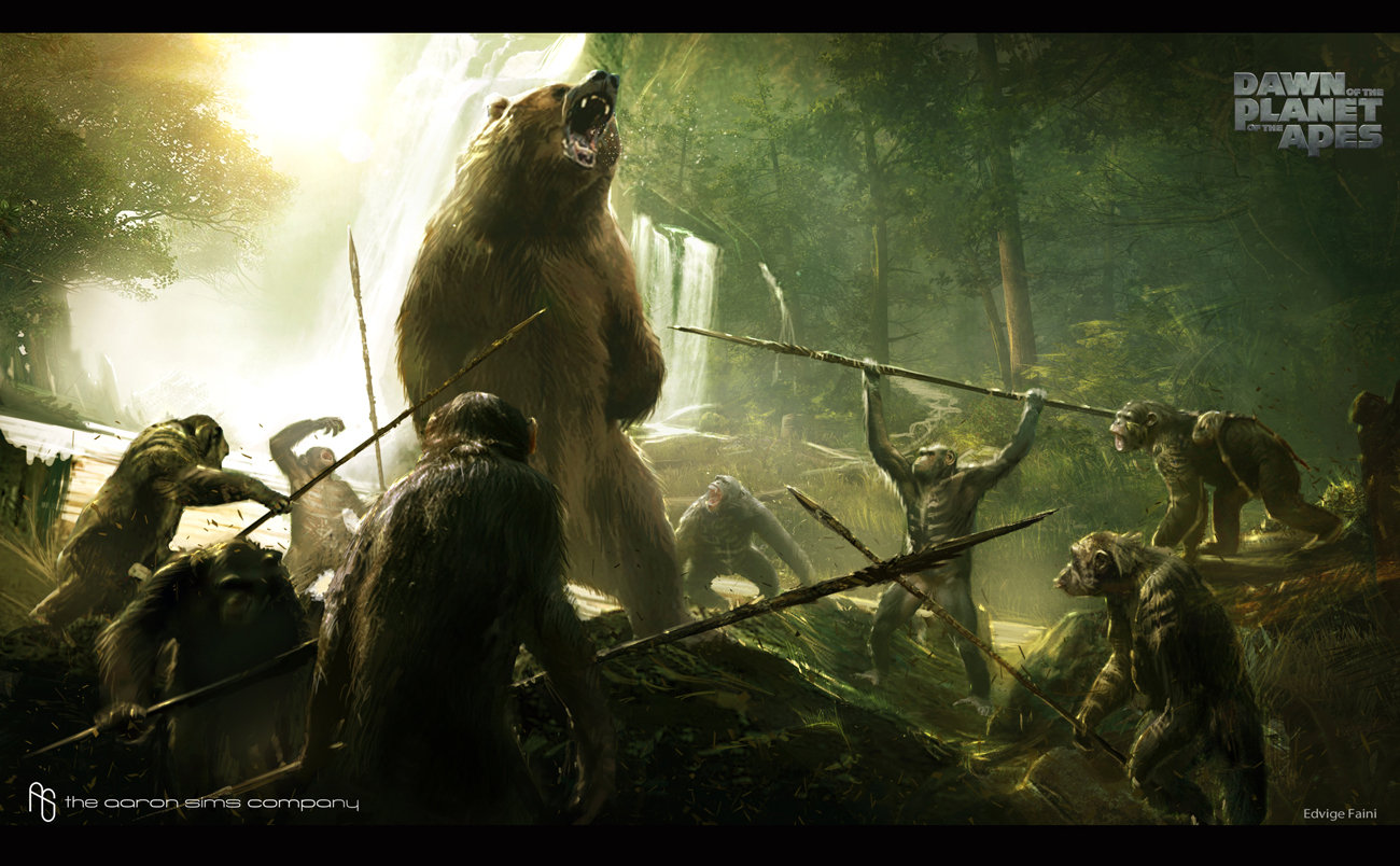 artstation dawn of the planet of the apes concept art edvige faini