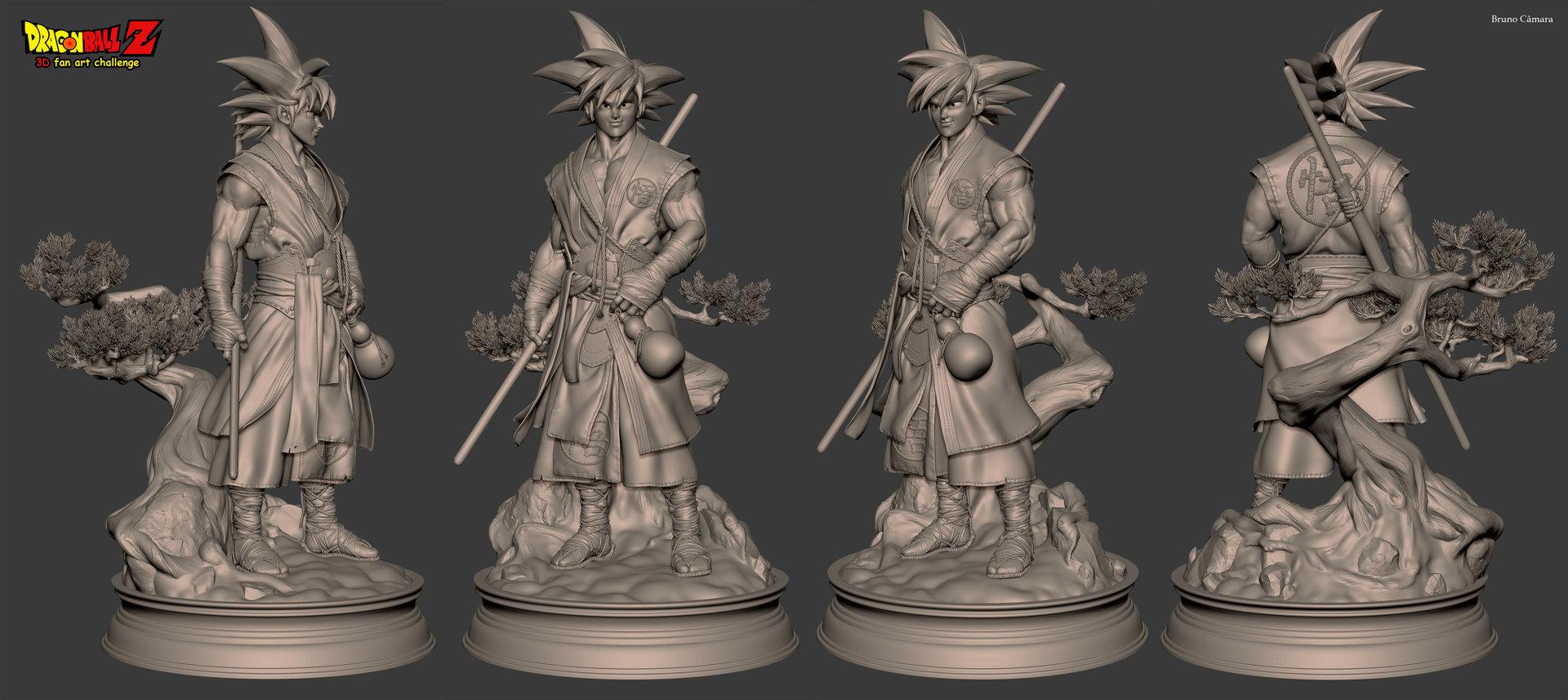 Bruno camara goku brunocamara sculpt 2k 02
