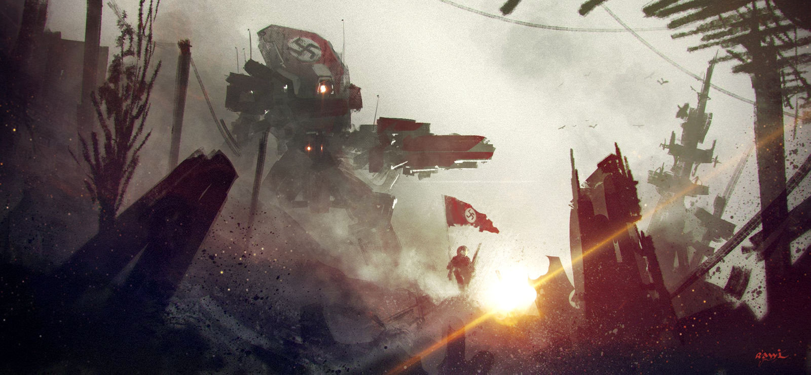 Ahmed rawi nazi mech red