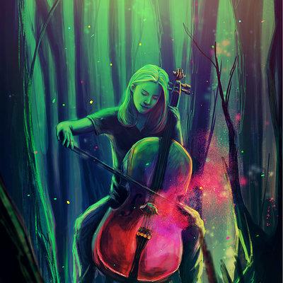 Taha yeasin cello girl forest