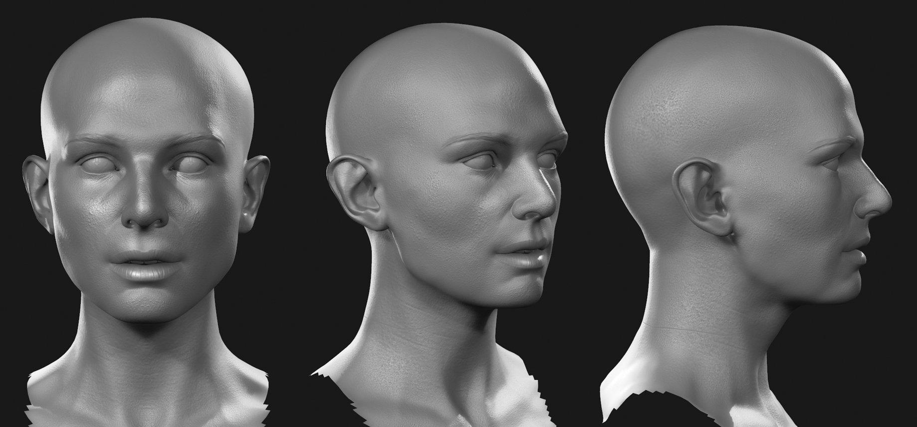 ArtStation - Female head, Jon Berry