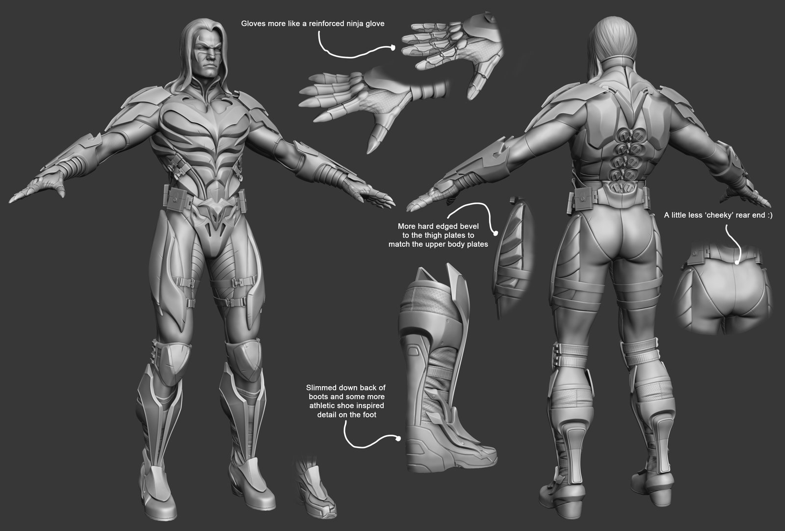 WIPS on the creation of Nightwing, and comments on what worked best, or looked better.