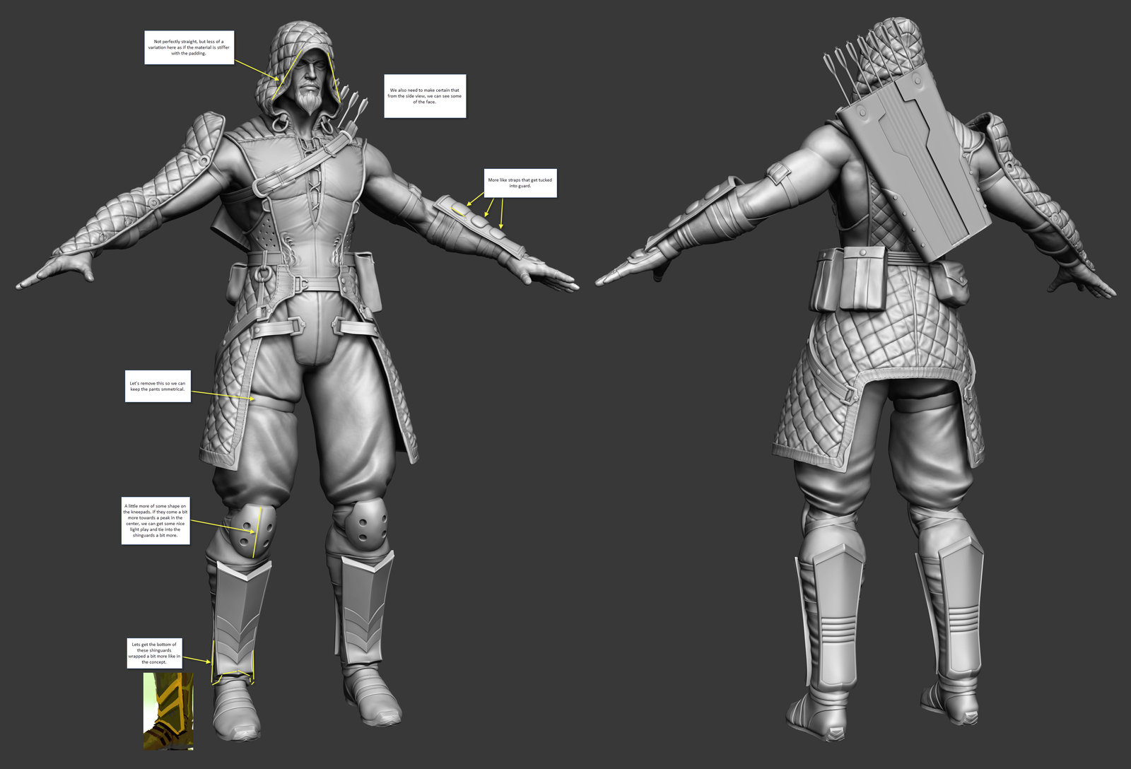 WIPS on the creation of character, and comments on what worked best, or looked better.