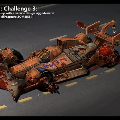 Travis lacey travis lacey brainstorm zombie vehicle indy car concept art web