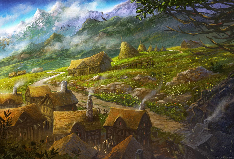 ArtStation - Gondorian Hamlet, Sabin Boykinov