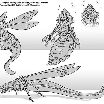 Travis lacey leech mosquito sketches brainstorm travis lacey web