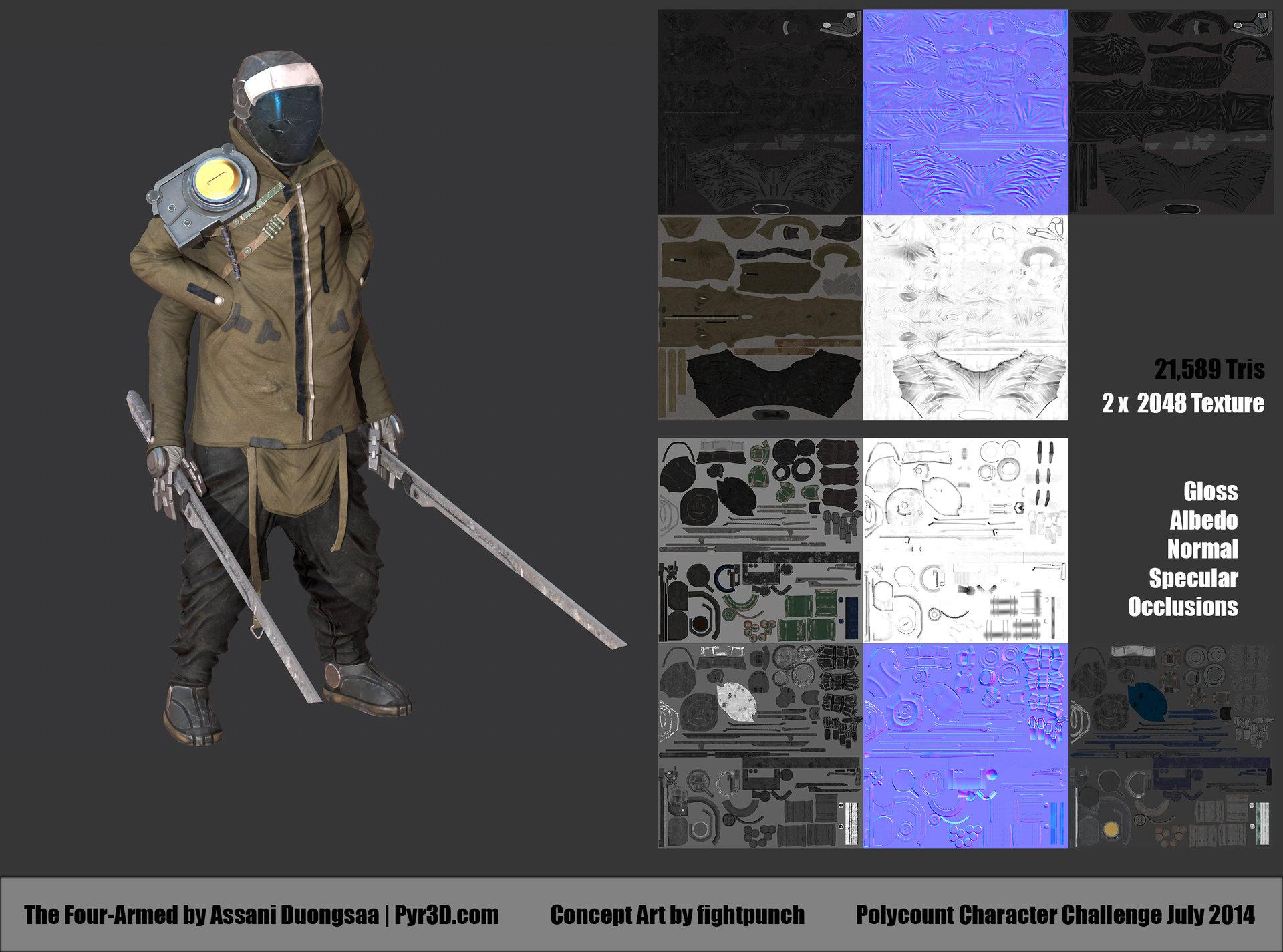 4-Armed Construction Sheet