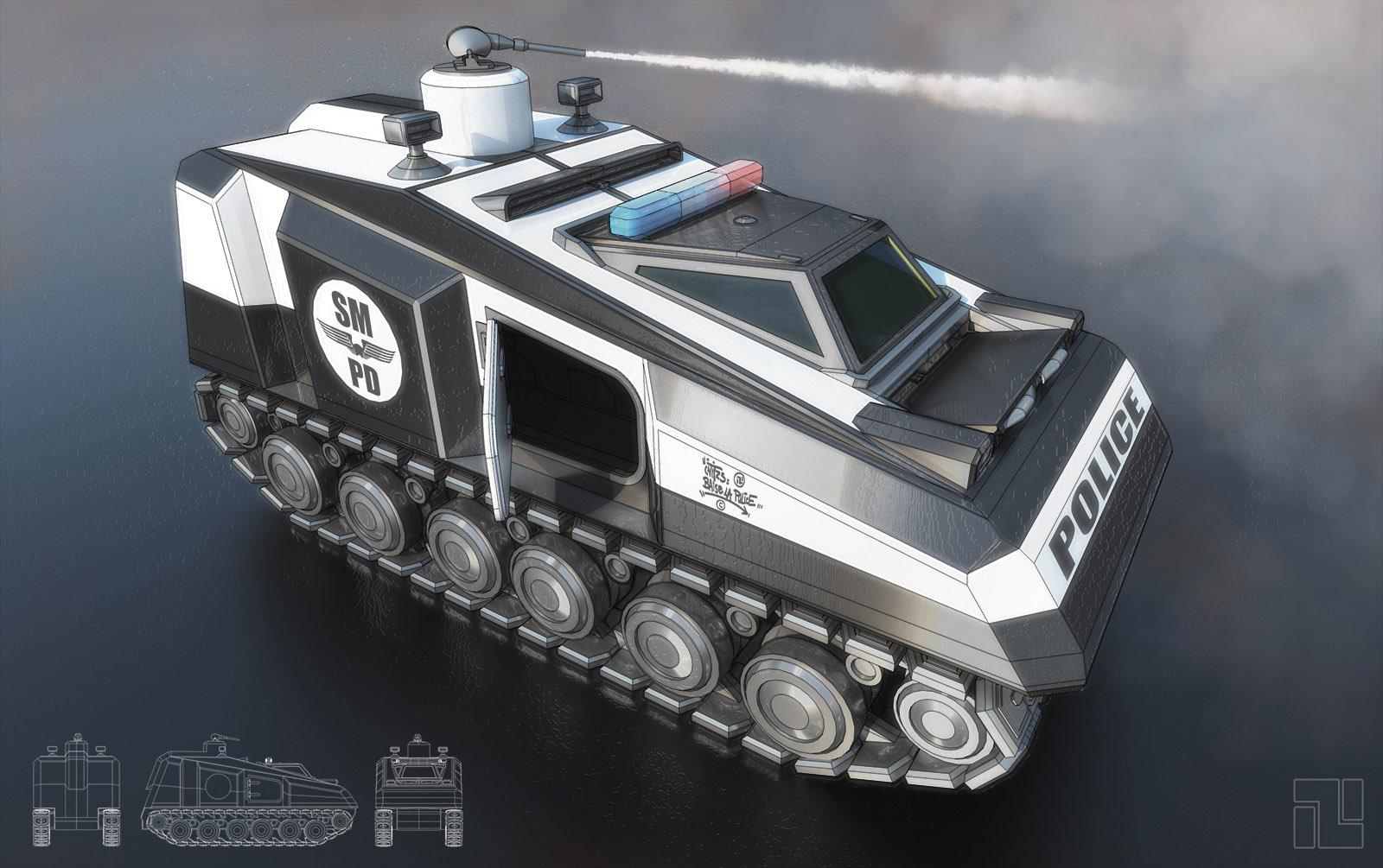 Initzs nettavongs police tank concept